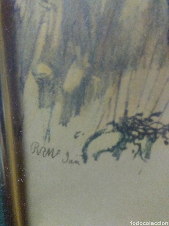 Varios objetos de Arte: Antiguo cuadro con lamina de soldado ,montado en pequeño caballito ,fiemado - Foto 5 - 269077083