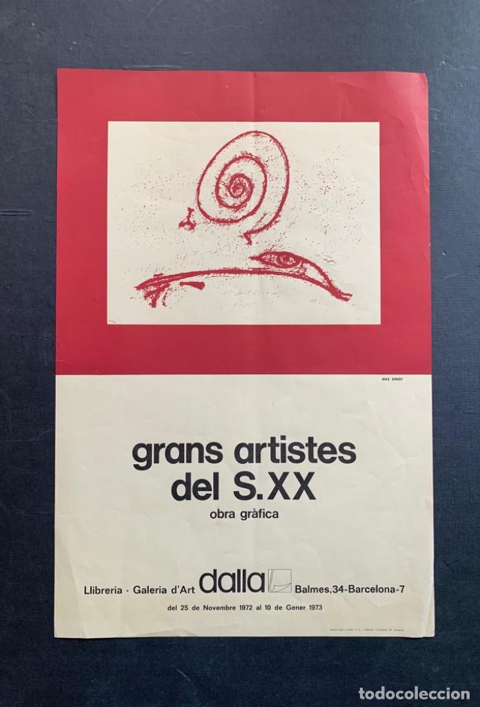 CARTEL LITOGRÁFICO GRANS ARTISTAS DEL SIGLO XX DIBUJO MAX ERNST GALERÍA DALLA (Arte - Varios Objetos de Arte)