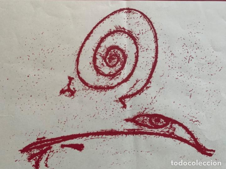 Varios objetos de Arte: CARTEL LITOGRÁFICO GRANS ARTISTAS DEL SIGLO XX DIBUJO MAX ERNST GALERÍA DALLA - Foto 2 - 269087628