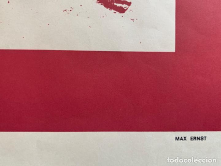 Varios objetos de Arte: CARTEL LITOGRÁFICO GRANS ARTISTAS DEL SIGLO XX DIBUJO MAX ERNST GALERÍA DALLA - Foto 3 - 269087628