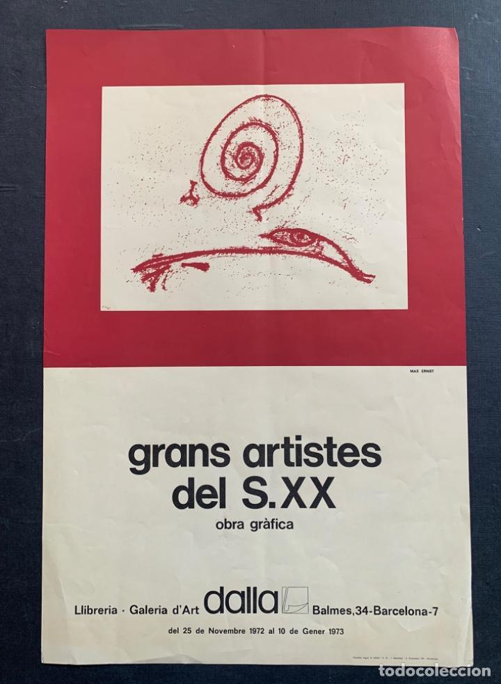 Varios objetos de Arte: CARTEL LITOGRÁFICO GRANS ARTISTAS DEL SIGLO XX DIBUJO MAX ERNST GALERÍA DALLA - Foto 4 - 269087628