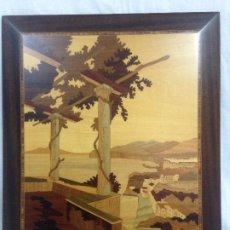 Varios objetos de Arte: CUADRO REALIZADO EN MARQUETERÍA. Lote 269345758