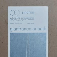 Varios objetos de Arte: GIANFRANCO ARLANDI. SINCRON. BRESCIA. 1970.. Lote 270159848