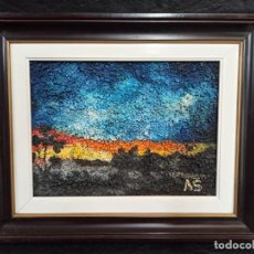 Varios objetos de Arte: PAISAJE REALIZADO CON GRAVA POLICROMADA. AR. Lote 270542288