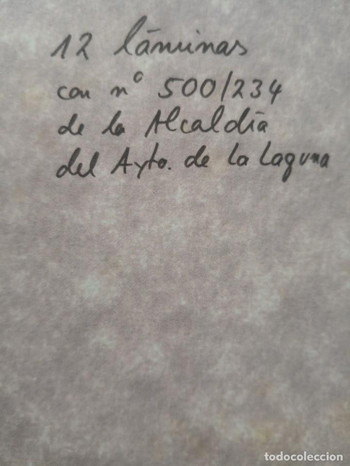 Varios objetos de Arte: Carpeta 12 láminas con nº 500/234 de la alcaldía la laguna A Pluma De José B. González - Falcón - Foto 3 - 271020498