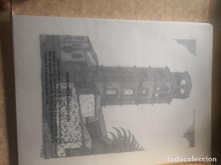 Varios objetos de Arte: Carpeta 12 láminas con nº 500/234 de la alcaldía la laguna A Pluma De José B. González - Falcón - Foto 5 - 271020498