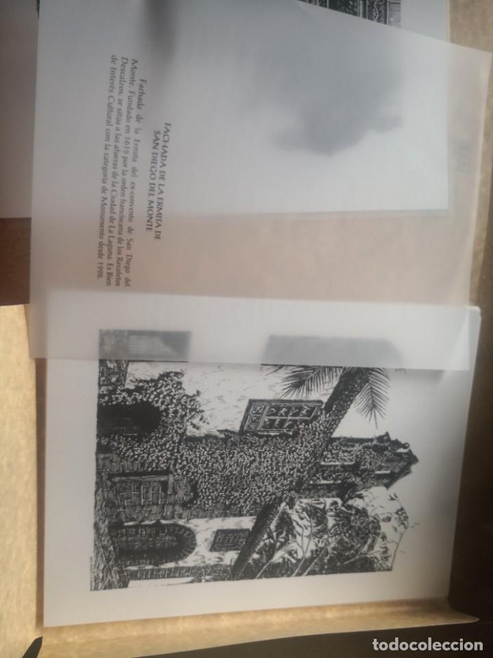 Varios objetos de Arte: Carpeta 12 láminas con nº 500/234 de la alcaldía la laguna A Pluma De José B. González - Falcón - Foto 9 - 271020498