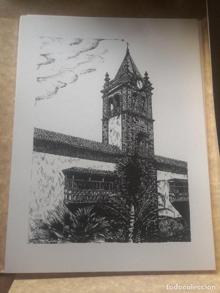 Varios objetos de Arte: Carpeta 12 láminas con nº 500/234 de la alcaldía la laguna A Pluma De José B. González - Falcón - Foto 10 - 271020498