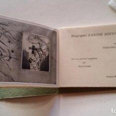 Varios objetos de Arte: FERNANDO ARRABAL-BALTAZAR - BIOGRAFÍA DE ANDRÉ BRETÓN, LIBRO DE ARTISTA, 1983. Lote 271380308