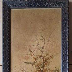 Varios objetos de Arte: MARCO ANTIGUO DE MADERA CON REPRODUCCIÓN DE ÓLEO. Lote 271571813