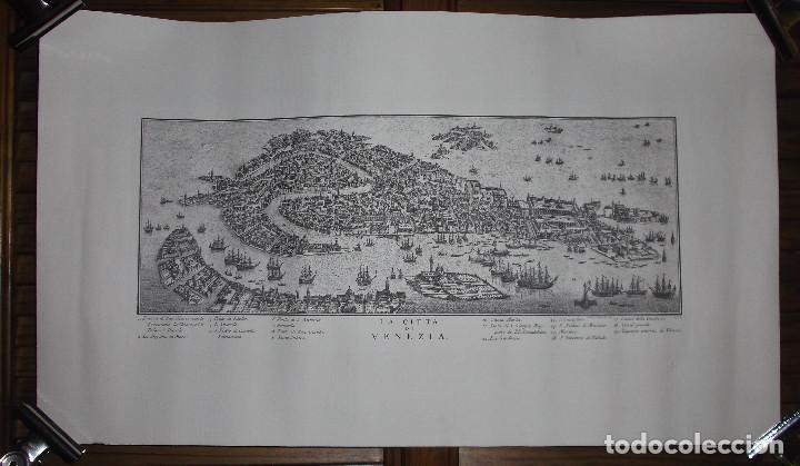 REPRODUCCIÓN GRABADO CIUDAD DE VENECIA - LA CITTA DI VENEZIA (Arte - Varios Objetos de Arte)