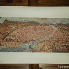 Varios objetos de Arte: REPRODUCCIÓN GRABADO CIUDAD DE FLORENCIA - FIRENZE NEL 1480. Lote 272004588