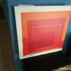 Varios objetos de Arte: IMPRESIÓN EN LIENZO DE JOSEF ALBERS. Lote 272391558