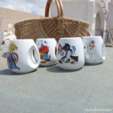 Varios objetos de Arte: SET 4 TAZAS DE PORCELANA ,DISEÑO MIRO Y PICASSO. Lote 272427973