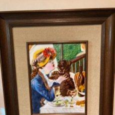 Varios objetos de Arte: PRECIOSO CUADRO PINTADO ÍNTEGRO EN ESMALTE. Lote 272769453