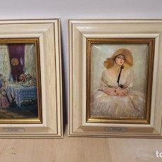 Varios objetos de Arte: LOTE DE DOS REPRODUCCIONES DE CUADROS ECHAS EN ESMALTE. Lote 272774033