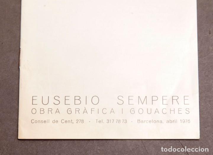 Varios objetos de Arte: EUSEBIO SEMPERE - OBRA GRÁFICA Y GOUACHES - GALERIA EUDE - 1976 - Foto 2 - 274798888