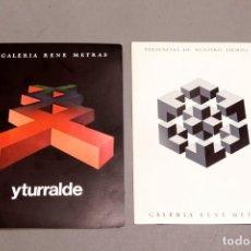 Varios objetos de Arte: YTURRALDE - RENE METRAS - 1970 Y 1976. Lote 274799023