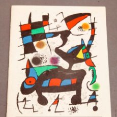 Varios objetos de Arte: ODA A JOAN MIRO - FOLLETO LIETOGRÁFICO - 1973. Lote 274799618