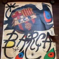 Art: MIRÓ CARTEL ORIGINAL 75 ANIVERSARIO F.C. BARCELONA 1899-1974 MED.: 99X68 CMS. (G). Lote 275220973