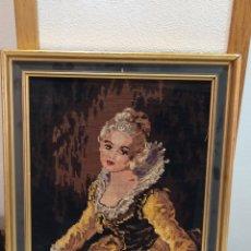 Varios objetos de Arte: MUY ANTIGUO CUADRO BORDADO. Lote 275230553