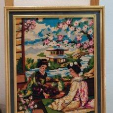 Varios objetos de Arte: PRECIOSO CUADRO MUY ANTIGUO BORDADO. Lote 275232173