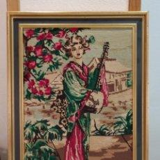 Varios objetos de Arte: BONITO CUADRO MUY ANTIGUO BORDADO. Lote 275234628