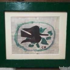 Varios objetos de Arte: REPRODUCCION EN OFSSET DE LITOGRAFIA DE GEORGE BRAQUE ENMARCADA L,OISEAU DAN'S LE FEUILLAGE. Lote 275236408