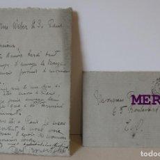 Art: PAUL TROUBETZKOY, CARTA FIRMADA DESDE PARIS, 1907? ESCULTOR IMPRESIONISTA,. Lote 275288033