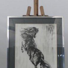 Art: EXCELENTE PINTURA DE CABALLO FIRMADA Y ENMARCADA. Lote 275551398