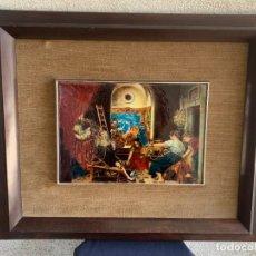 Varios objetos de Arte: ESMALTE SOBRE COBRE PINTADO SIGUIENDO LAS HILANDERAS DE VELAZQUEZ AÑOS 60 70 58X69CMS. Lote 275926143