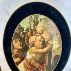 Varios objetos de Arte: ANTIGUO Y PRECIOSO CUADRO OVALADO, MADERA Y TERCIOPELO 44 X 34 CM. Lote 276016938