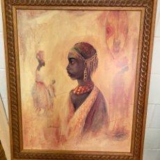 Varios objetos de Arte: PRECIOSO CUADRO CON UN MARCO DE MADERA LABRADA, 60 X 48 CM ,. Lote 276019228