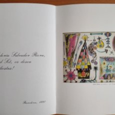 Varios objetos de Arte: POSTAL NAVIDAD DAU AL SET - SALVADOR RIERA 1990 - JOAN PONÇ. Lote 276072058