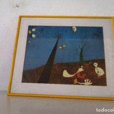 Art: CUADRO GRAN FORMATO, DISEÑO ESTILO CUBISTA, UNOS 73 X 60 CMS, ENMARCADO EN MADERA CON CRISTAL (C3). Lote 276115793