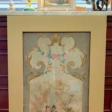 Varios objetos de Arte: SOBERBIA PINTURA SOBRE TABLA. Lote 276256668