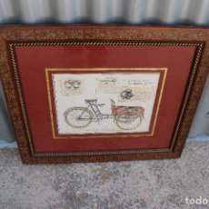 Varios objetos de Arte: CUADRO LAMINA TRICICLO ANTIGUO. Lote 276701583