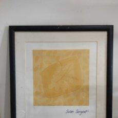 Varios objetos de Arte: CUADRO DISEÑO DE SUSAN SARGENT, ENMARCADO 64X55CM. Lote 276928813