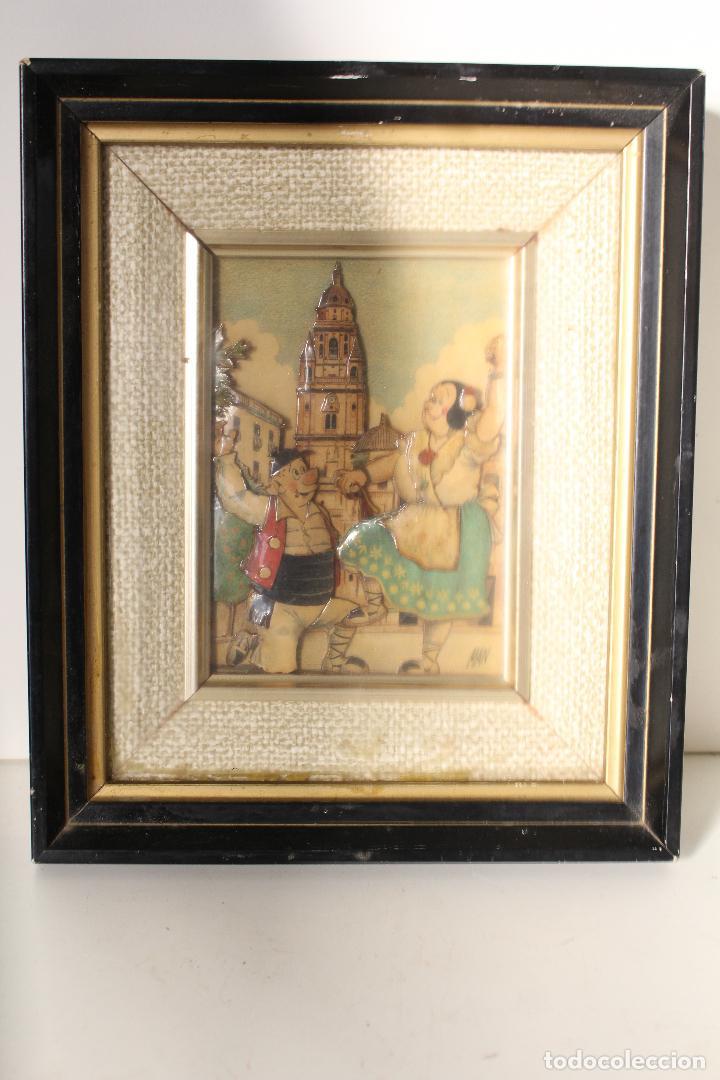 MAN, TIO PENCHO - MURCIA - ORIGINAL FIRMADO CARTON PIEDRA (Arte - Varios Objetos de Arte)