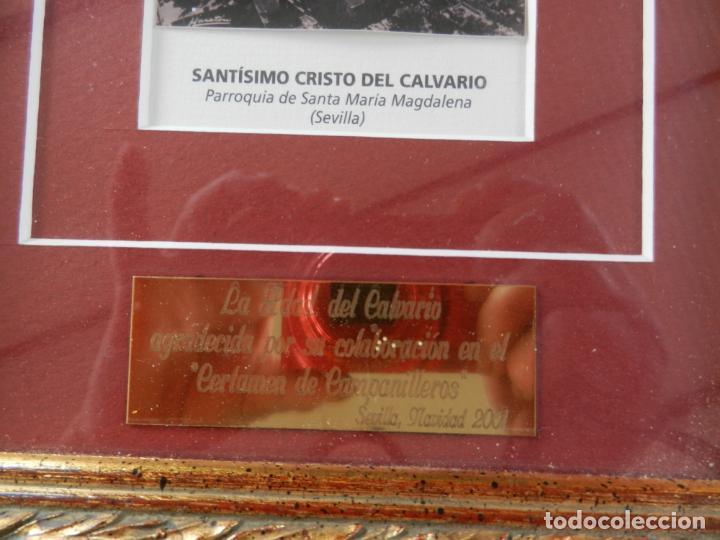 Varios objetos de Arte: SANTÍSIMO CRISTO DEL CALVARIO - P. STA. Mª MAGDALENA - SEVILLA - CERTAMEN DE CAMPANILLEROS - 2001. - Foto 3 - 277002183