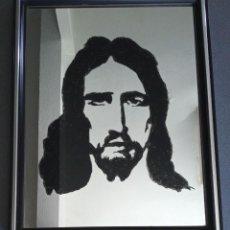 Varios objetos de Arte: ESPEJO PINTADO JESÚS. Lote 277101348
