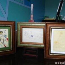 Varios objetos de Arte: TRÍPTICO DE PICASSO ERÓTICO: DE LA PINTURA AL COLLAGE. EN MARCOS VINTAGE. Lote 277119128
