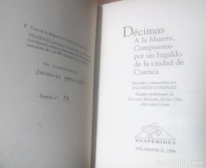 Varios objetos de Arte: Zacarías González. Décimas a la Muerte, compuestas por un hidalgo de la ciudad de Cuenca - Foto 3 - 277835718
