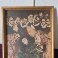 Varios objetos de Arte: ANTIGUO CUADRO IMPRESO SOBRE LIENZO. Lote 278363708