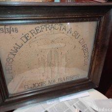 Varios objetos de Arte: CUADRO OBSEQUIO DEL PERSONAL DE REFRACTA A SU DIRECTOR 1948 - VALENCIA -. Lote 278429043