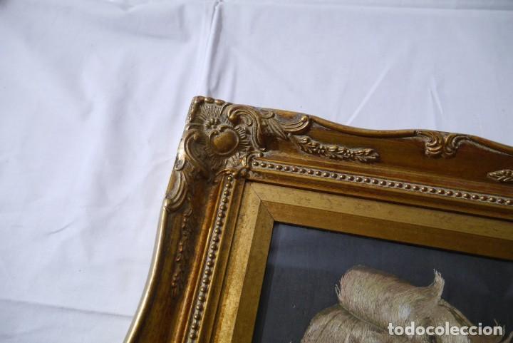 Varios objetos de Arte: Cuadro de niño merendando, bordado sobre tela - Foto 5 - 278623523