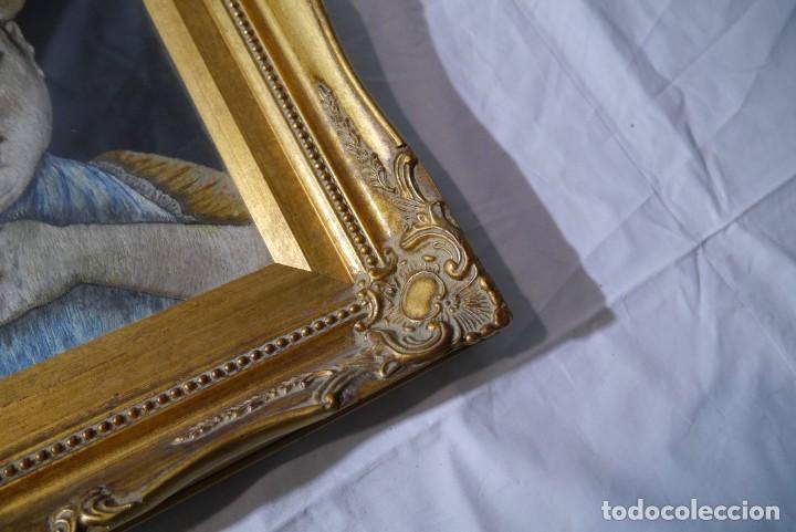 Varios objetos de Arte: Cuadro de niño merendando, bordado sobre tela - Foto 8 - 278623523