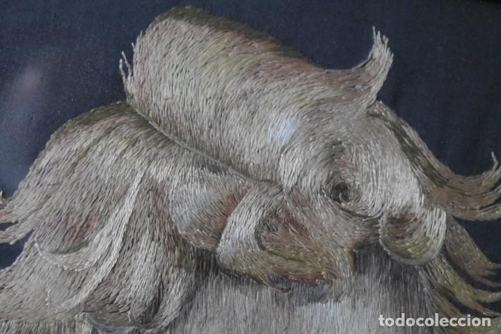 Varios objetos de Arte: Cuadro de niño merendando, bordado sobre tela - Foto 9 - 278623523