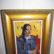 Varios objetos de Arte: CUADRO AZULEJO MUJER TAHITIANA SENTADA PAUL GAUGUIN. Lote 278980888