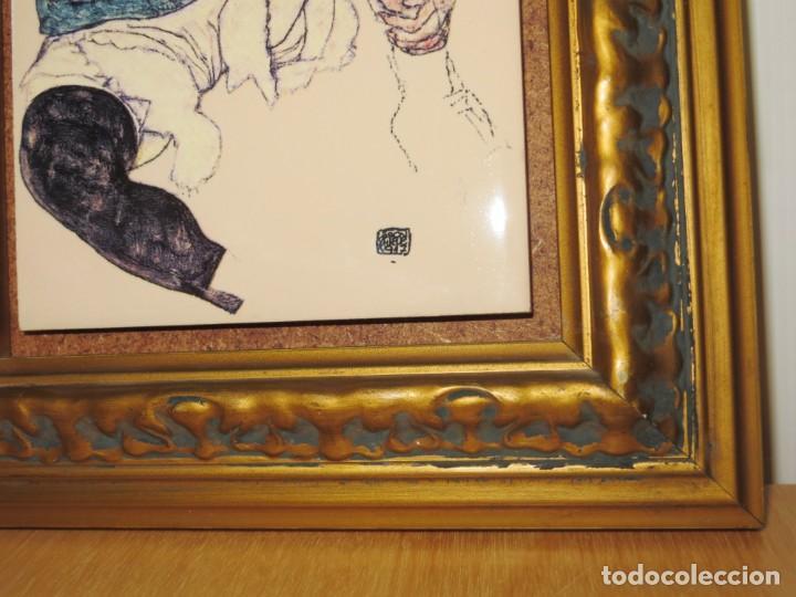 Varios objetos de Arte: Cuadro azulejo Edith, la mujer del artista Egon Schiele - Foto 6 - 278980963